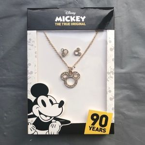 Disney. Mickey Mouse Necklace & Studs Set. New!